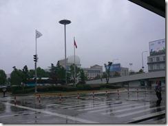 雨の上海空港1
