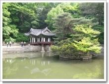 昌徳宮の中の池