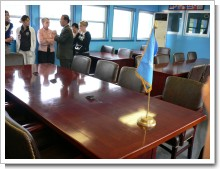 南北会議のテーブル