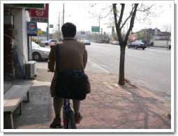 自転車で移動
